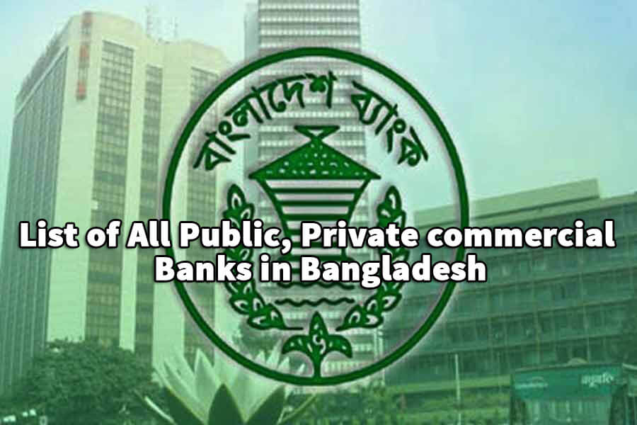 List of All Public, Private commercial Banks in Bangladesh
